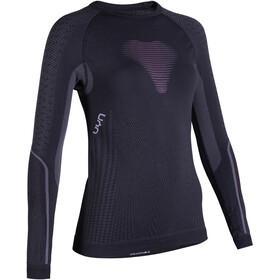 UYN Visyon UW Longsleeve Shirt Dames, charcoal/raspberry/white